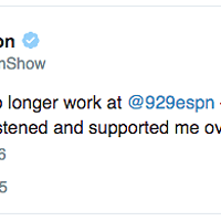 Chris Vernon out at 92.9 ESPN
