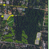 An early draft of the proposed parking changes around Overton Park.