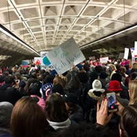 On the ground at the Washington women's march — a transformative experience.