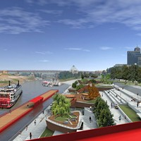 Artist's rendition of Beale Street Landing