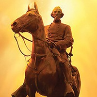 The Nathan Bedford Forrest statue in the Medical District