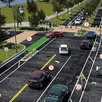 The new plan for bike lanes  on Riverside
