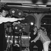 Orson Welles on the set of Citizen Kane