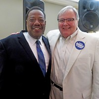 Bonner with incumbent Sheriff Bill Oldham, who endorsed him.