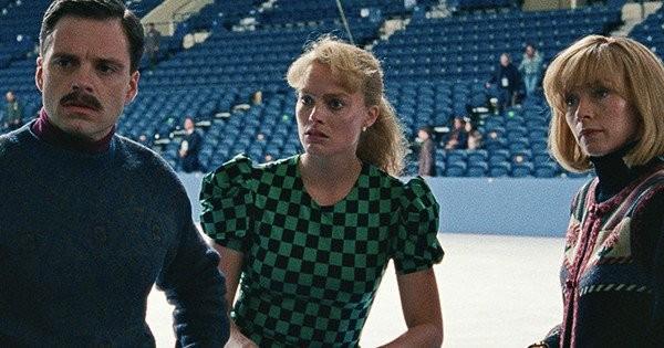 Sebastian Stan, Margo Robbie, and Julianne Nicholson in I, Tonya