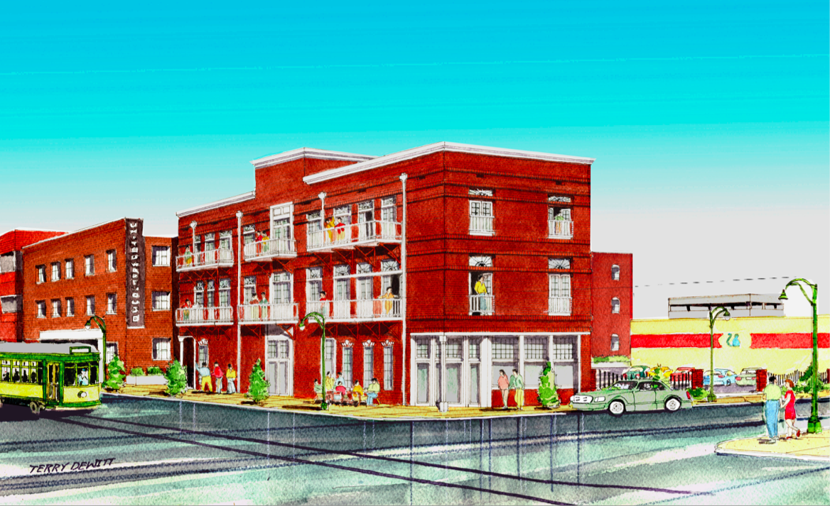 Click To Enlarge A Developer Wants Build This Three Story Building With Apartments And Restaurant On
