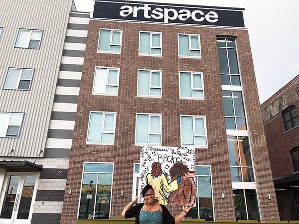 ArtSpace resident April Jones - MAYA SMITH