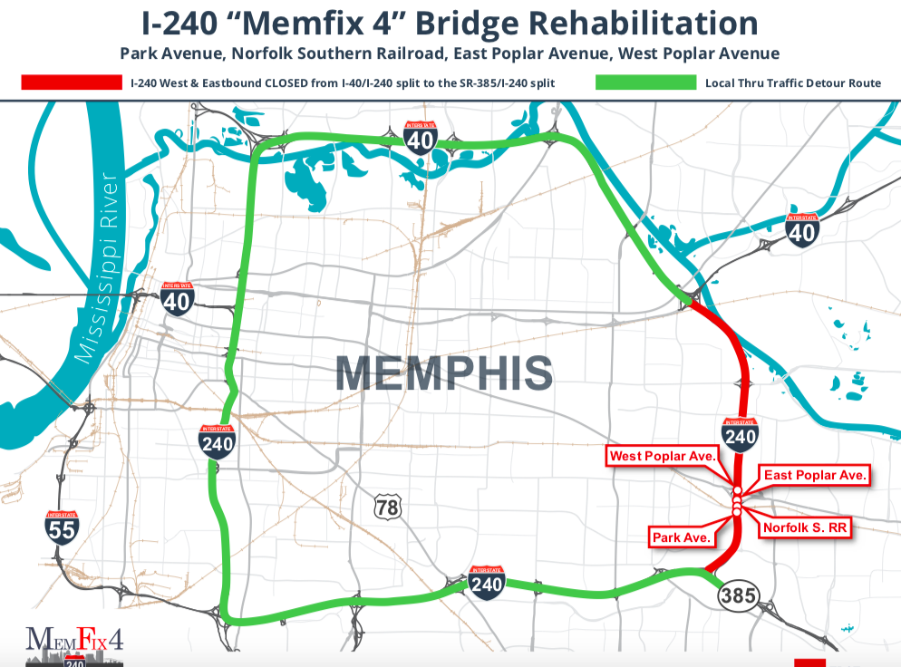 Lane Closures Ahead on I-240 for Bridge Work | News Blog