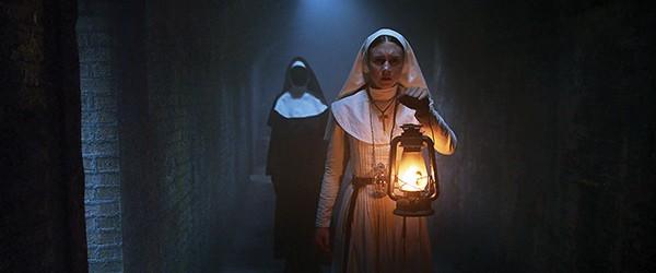 Taissa Farmiga get creepy in The Nun, which is actually a film about multiple nuns.