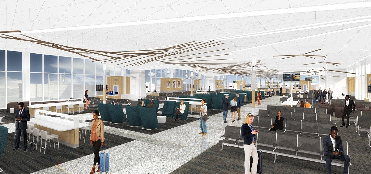 Renderings show an updated B Concourse. - MEMPHIS INTERNATIONAL AIRPORT