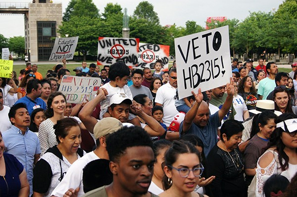 A Tennessee immigration rally. - TENNESSEE IMMIGRATION AND REFUGEE RIGHTS COALITION