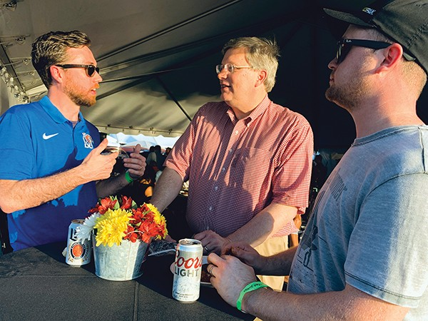 Mayor Jim Strickland with - Cody and Steven Fletcher - JACKSON BAKER