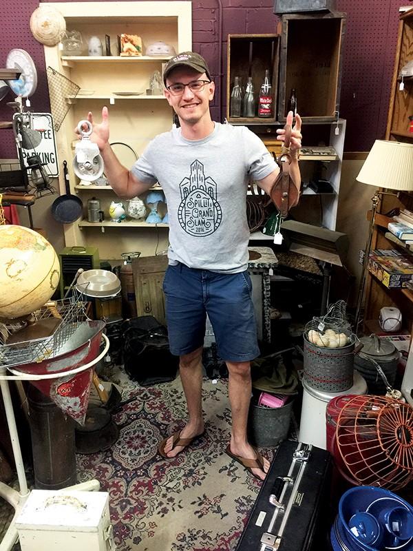 Evan Katz at Antique Warehouse - MICHAEL DONAHUE