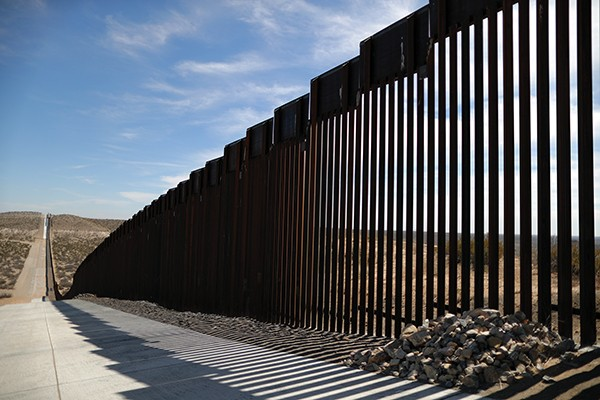 U.S.-Mexico border fencing in Santa Teresa, New Mexico - REUTERS   LUCY NICHOLSON