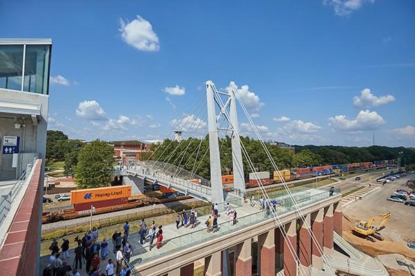 Like a bridge over busy train tracks - TREY CLARK/UNIVERSITY OF MEMPHIS