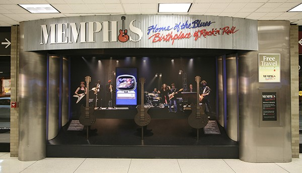 An image of local musicians welcomes travelers to Memphis International Airport's baggage claim. - © CALVIN L. LEAKE | DREAMSTIME.COM