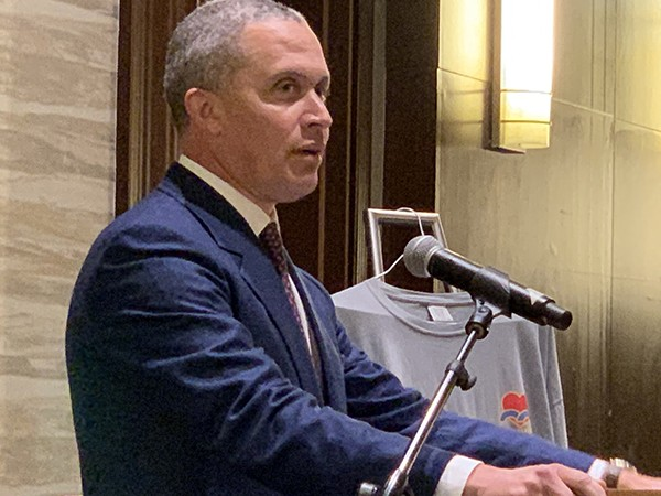 Harold Ford Jr. at Halloran Rotary Lunch - JACKSON BAKER