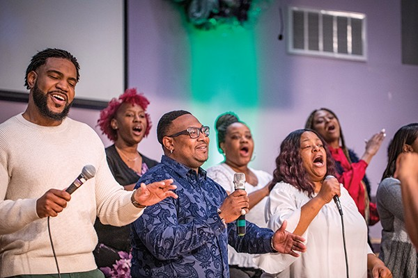 The choir at Olivet - Fellowship Baptist Church - PHOTOGRAPHS BY JUSTIN FOX BURKS