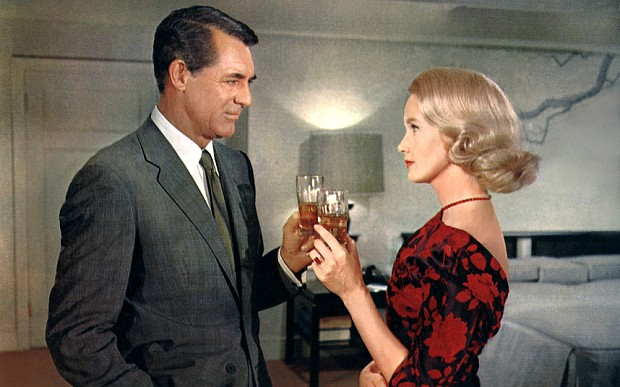 Cary Grant and Eva Marie Saint pause for refreshment in North By Northwest.