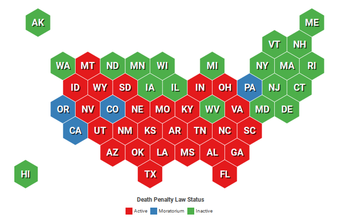 States with capital punishment - DEATH PENALTY INFORMATION CENTER