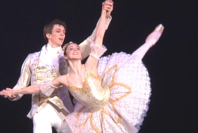 "Brandon and Virginia Pilgrm Ramey in a 2016 Ballet Memphis production of ""Cinderella."""