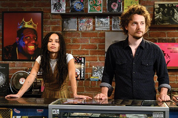 Zoë Kravitz (left) and David H. Holmes in Championship Vinyl