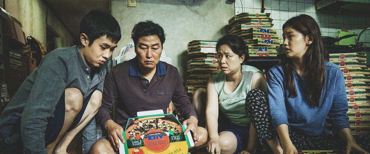 The Kim family tries to eek out a living folding pizza boxes.