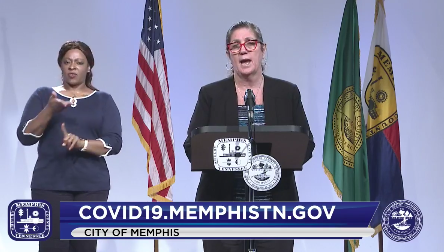Dr. Alisa Haushalter, director of the Shelby County Health Department during a recent briefing of the Memphis and Shelby County COVID-19 Task Force. - CITY OF MEMPHIS/FACEBOOK