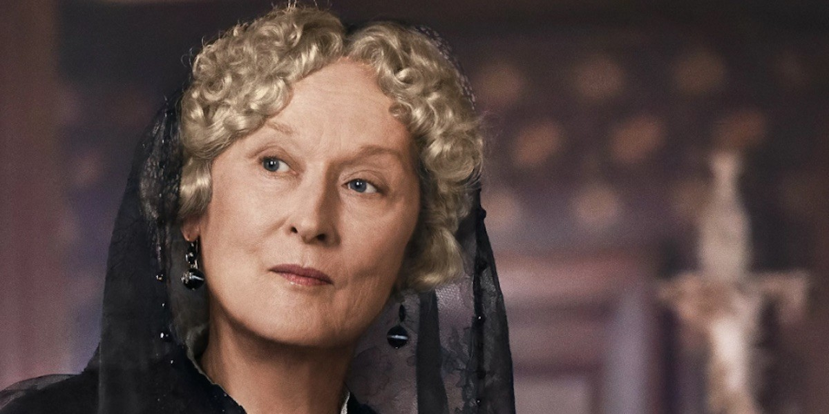 Meryl Streep takes no guff as Aunt March.