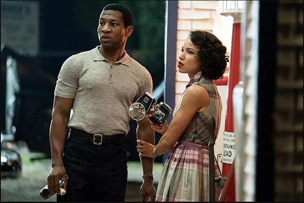 Jonathan Majors (left) and Jurnee Smollett face racism and white supremacist institutions in Lovecraft Country.