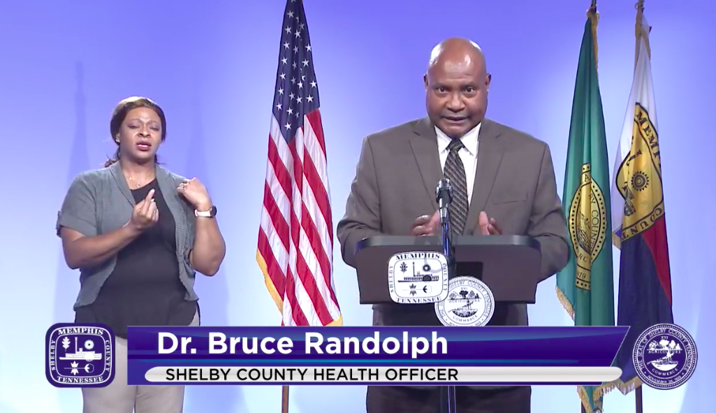 Shelby County Health Department (SCHD) Officer Dr. Bruce Randolph - CITY OF MEMPHIS/FACEBOOK