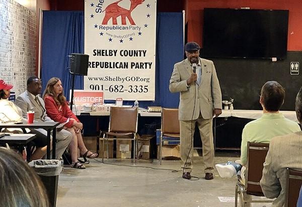State Rep. John DeBerry speaks to GOP group - JACKSON BAKER