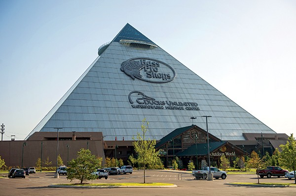 Two restaurants are serving again at the Pyramid.