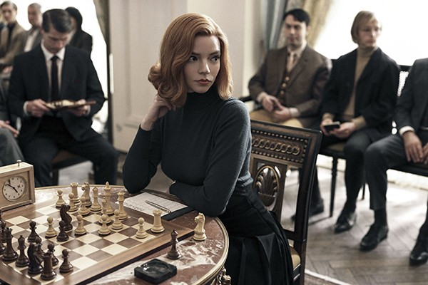 Anya Taylor-Joy plays an orphaned chess prodigy in The Queen's Gambit