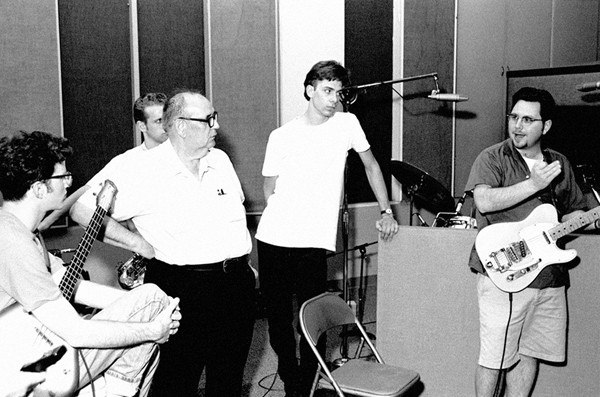 Impala recording with Roland Janes (third from left) - DAN BALL