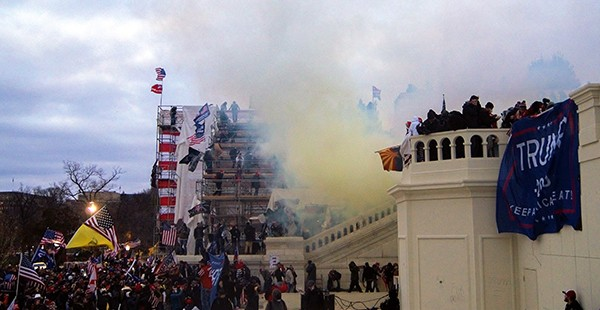 Tear gas outside the - United States Capitol, 2021 - TYLER MERBLER   WIKIMEDIA   CREATIVE COMMONS