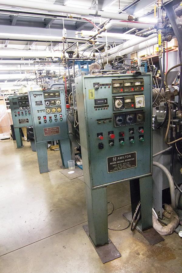 Three of the Hamilton Machines at Memphis Record Pressing - JOSH MILLER