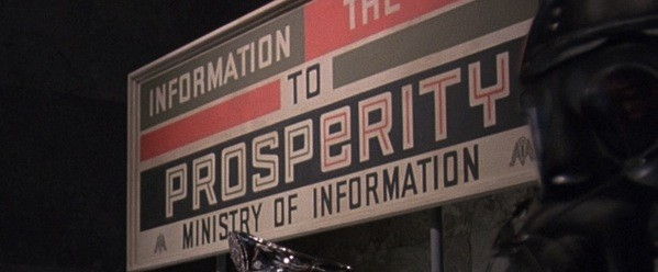 Gilliam used production design to convey thematic information.