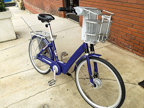A tester model of a bicycle being considered for the bike-share program. - BIANCA PHILLIPS