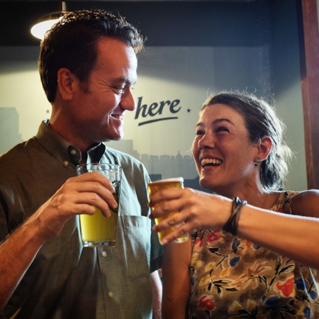 Church Health Center's Marvin Stockwell and Citizens to Preserve Overton Park's Jessica Buttermore enjoy craft brews for a tasty cause. - JOHN KLYCE MINERVINI