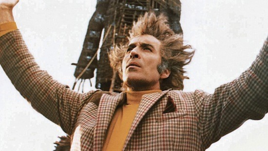 Sir Christopher Lee's hair stars in The Wicker Man