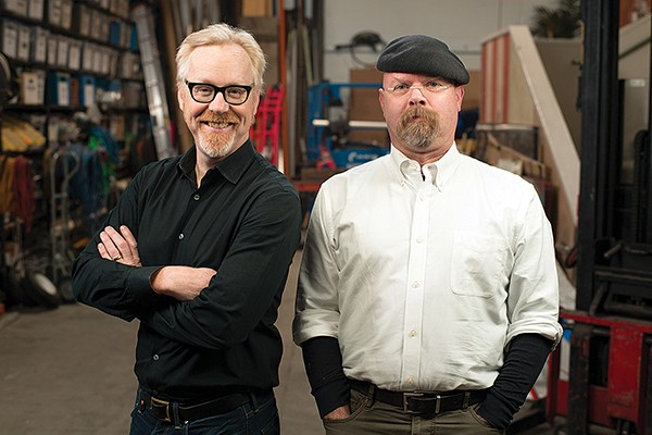 Adam Savage (left) and - Jamie Hyneman