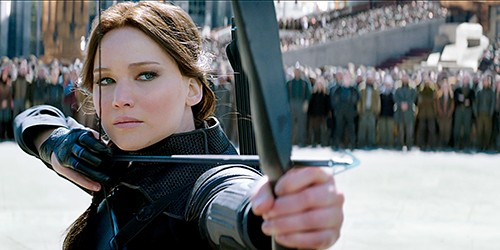 Jennifer Lawrence in Mockingjay
