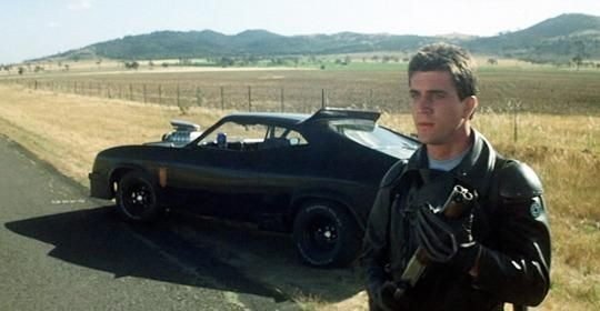 Mel Gibson as Mad Max in 1979