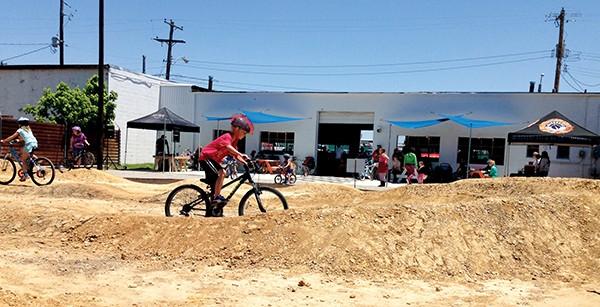Bikesmith's pump track opened last weekend. - DAVID EVANS