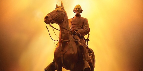 Nathan Bedford Forrest as he appears in Health Sciences Park. - JUSTIN FOX BURKS