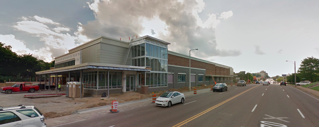 This Google Maps Street View photo shows the new store under construction in August. - GOOGLE