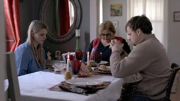 """Actor/director McGehee Monteith (left) in her short film """"He Coulda Gone Pro""""."""