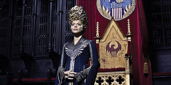 Carmen Ejogo as Seraphina Picquery, the President of the Magical Congress of the United States