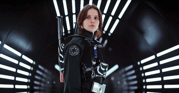 Felicity Jones as Jyn in Rogue One: A Star Wars Story